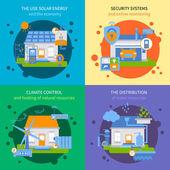 Smart House Colored Icon Set