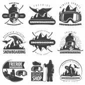 Snowboarding Emblem Set