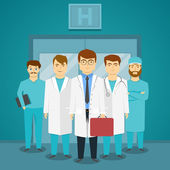 Group Of Medical Specialists In Hospital