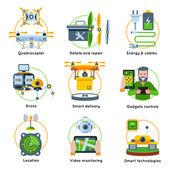 New Technologies Concept Icon Set