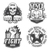 Set of four mma emblems