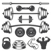 Insieme degli elementi dellannata fitness progettato
