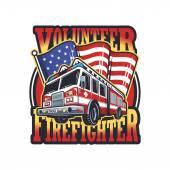 Vintage firefighter emblem