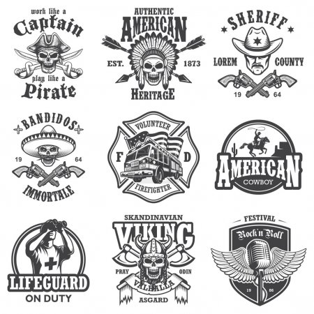Set of vintage lifestyle emblems