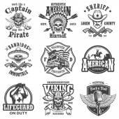 Set of vintage lifestyle emblems
