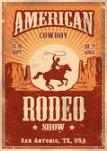 American cowboy rodeo poster