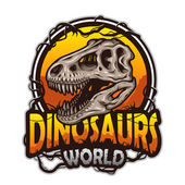 Dinosaurs world emblem