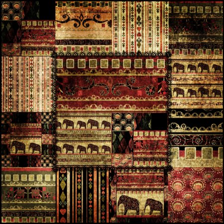 Patchwork african pattern print background