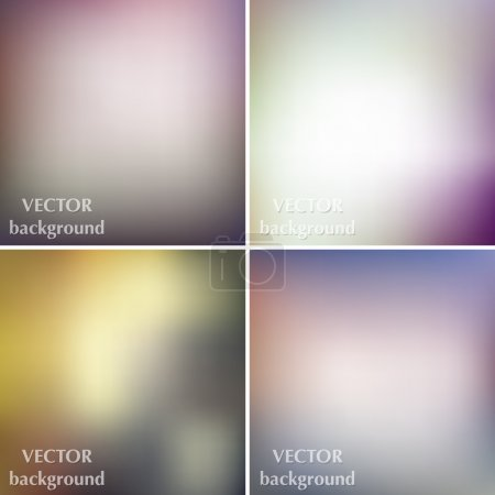 Abstract colorful blurred smooth business vector backgrounds set