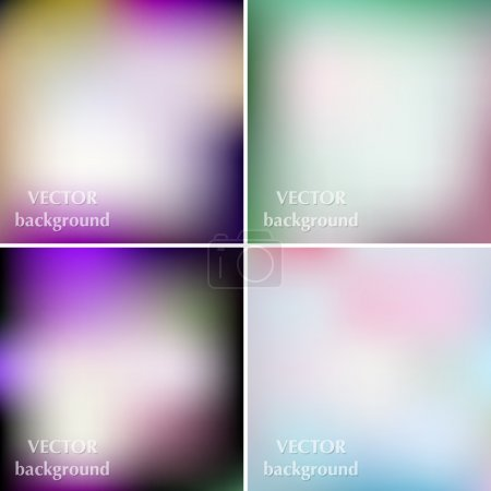 Illustration for Abstract colorful blurred smooth vector backgrounds set EPS1 - Royalty Free Image