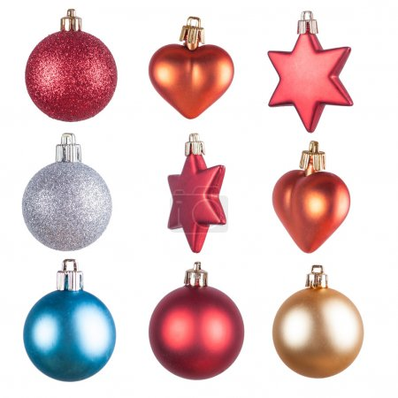 Christmas ornaments isolated decorations