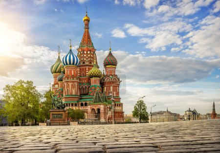 Photo for St. Basil's Cathedral on Red Square - Royalty Free Image