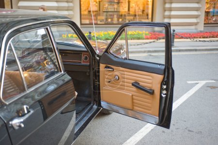 Soviet black retro GAZ-24
