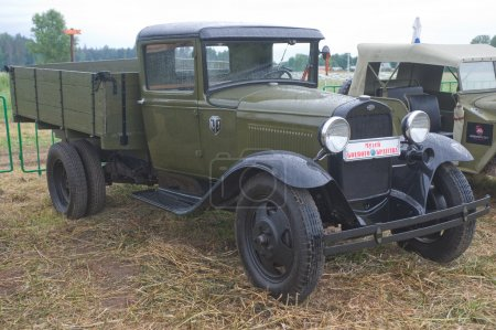 Soviet old truck GAZ-AA  , side view, 3rd international meeting