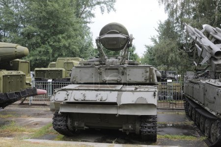 """Anti-aircraft self-propelled gun ZSU-23-4 """"Shilka"""" in the Central Museum of Armed forces, rear view"""