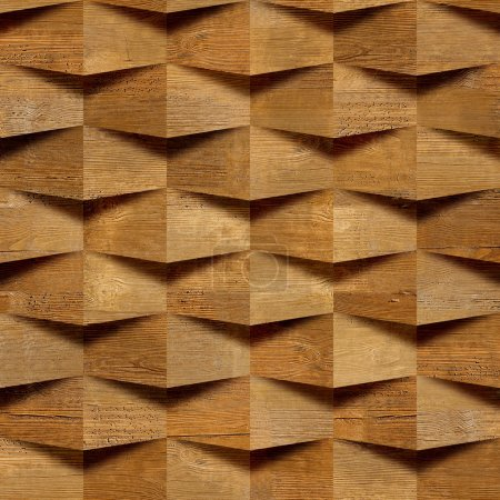 Wooden blocks stacked for seamless background