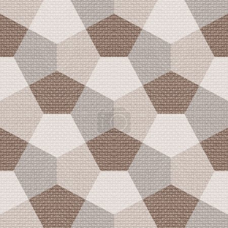 Photo for Abstract paneling pattern - seamless background - cloth paneling - Royalty Free Image