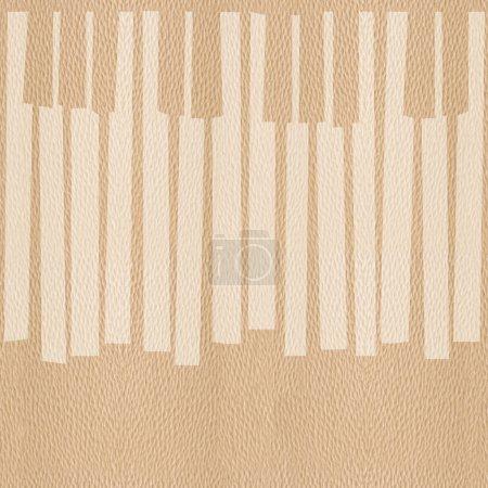Abstract musical piano keys - seamless background - White Oak wo