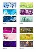 Four Seasons set backgrounds