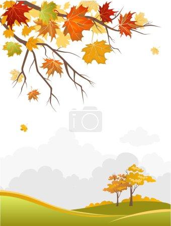 Autumn scenery background