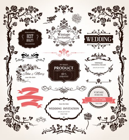 calligraphic decorations for wedding