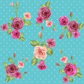 """Постер, картина, фотообои """"Винтажные розы шаблон"""""""