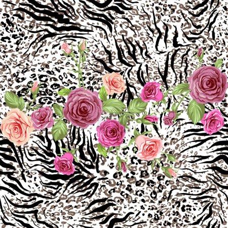 Roses on animal skin