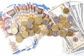 Dollars and shekels.