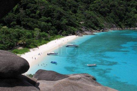 View point at Donald Duck Bay at Ko Similan Island in Similans n
