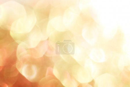 Gold and red abstract bokeh lights, defocused background - soft colors