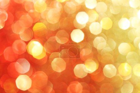 Foto de Rojo, oro, naranja con brillo de fondo, luces suaves, Fondo de Navidad - Imagen libre de derechos