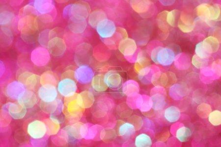 Foto de Luces suaves de rosa, púrpuras, blancas, amarillas y turquesas abstractos fondo - Imagen libre de derechos
