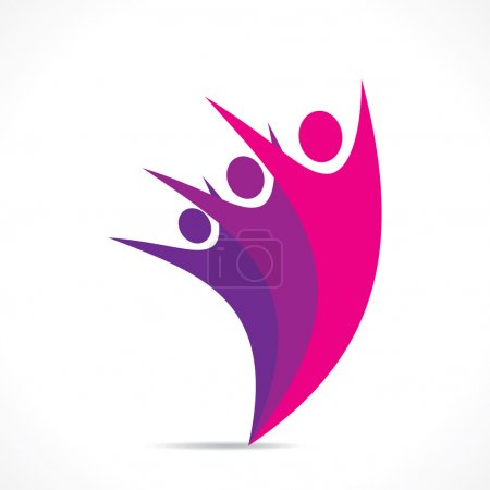 Creative colorful people icon design