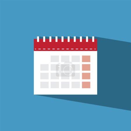calendar flat icon  vector illustration eps10