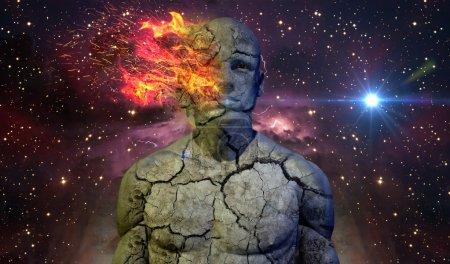 Photo pour Un Concept humain abstrait est image grand fond commercial ou presque n'importe quel type de projet de haute technologie, science fiction. - image libre de droit