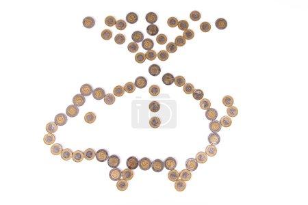 Polish zloty coins. Money in Poland: 1 PLN, 2 PLN, 5 PLN. Investments in Poland.