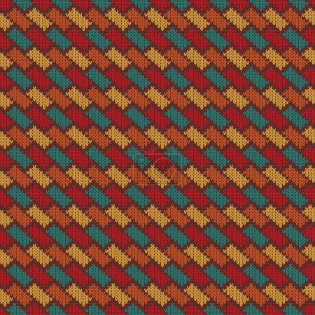 vector knitting seamless background with geometric pattern