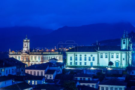 Foto de Ouro Preto una pequeña ciudad en Minas Gerais, Brasil - Imagen libre de derechos