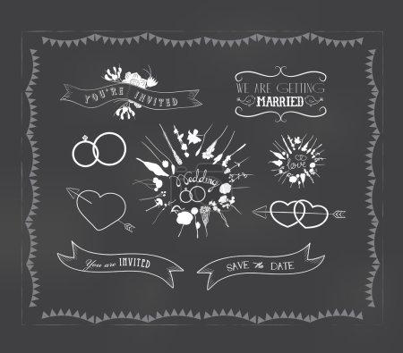 Illustration for Chalkboard doodle frame - Royalty Free Image