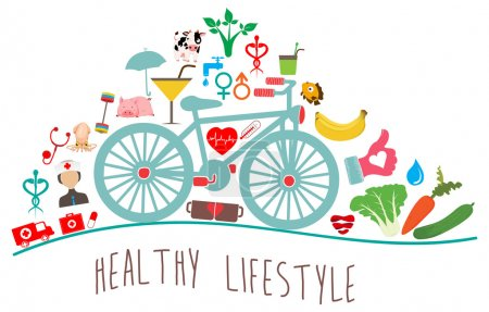 Illustration for Vector - Healthy Lifestyle Background - Royalty Free Image