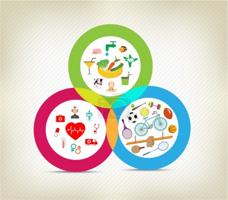 Healthy lifestyles icons