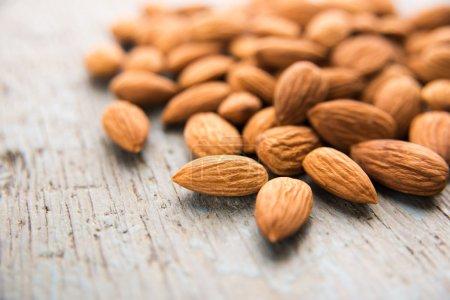 Raw Almonds heap