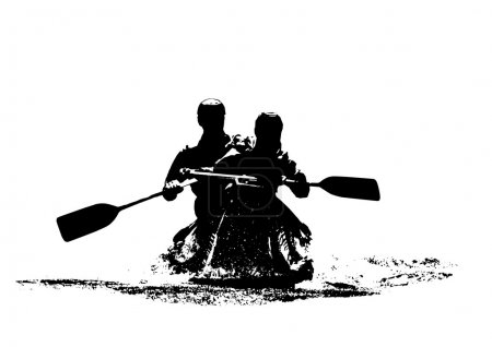 canoeists illustration