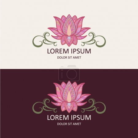 Illustration for Lotus Icon and Logo Template. Vector Illustration. - Royalty Free Image