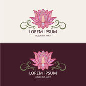Lotus Icon and Logo Template Vector Illustration