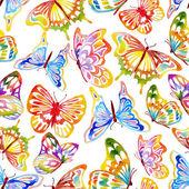 Reticolo di farfalla dellacquerello