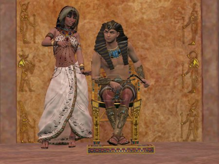 Egyptian Queen advises Pharaoh