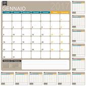 Italský kalendář 2017
