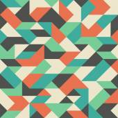 Vintage seamless pattern with colorful rhombuses