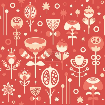 Illustration for Merry Christmas, set 23. Seamless pattern. - Royalty Free Image